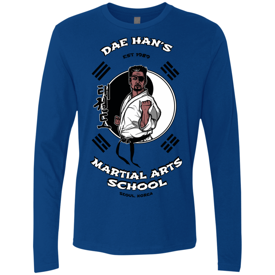 T-Shirts Royal / S Dae Hans Martial Arts Men's Premium Long Sleeve