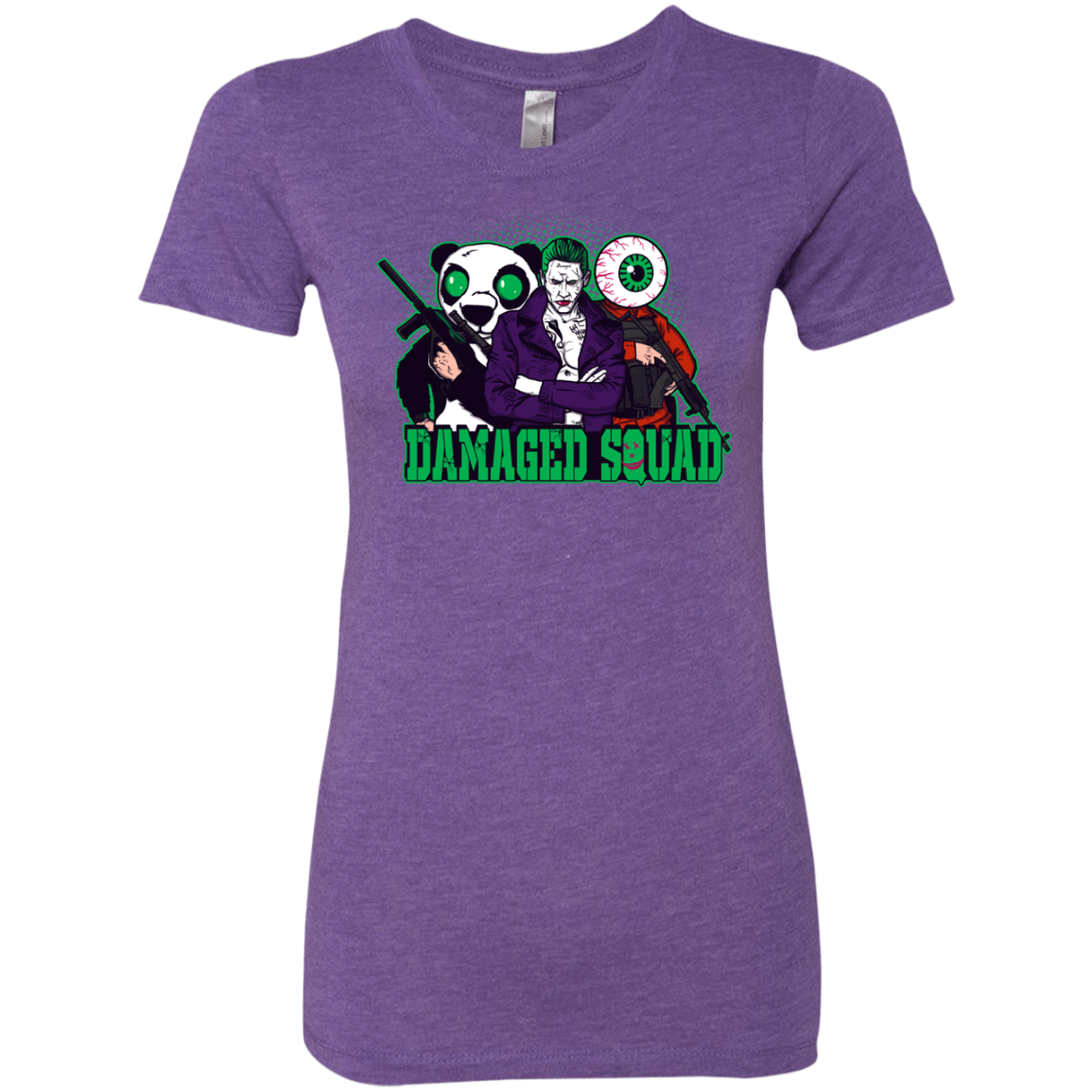 T-Shirts Purple Rush / Small Damaged Squad Women's Triblend T-Shirt