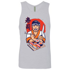 T-Shirts Heather Grey / S DANIEL SAN SUSHI Men's Premium Tank Top