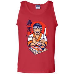 T-Shirts Red / S DANIEL SAN SUSHI Men's Tank Top