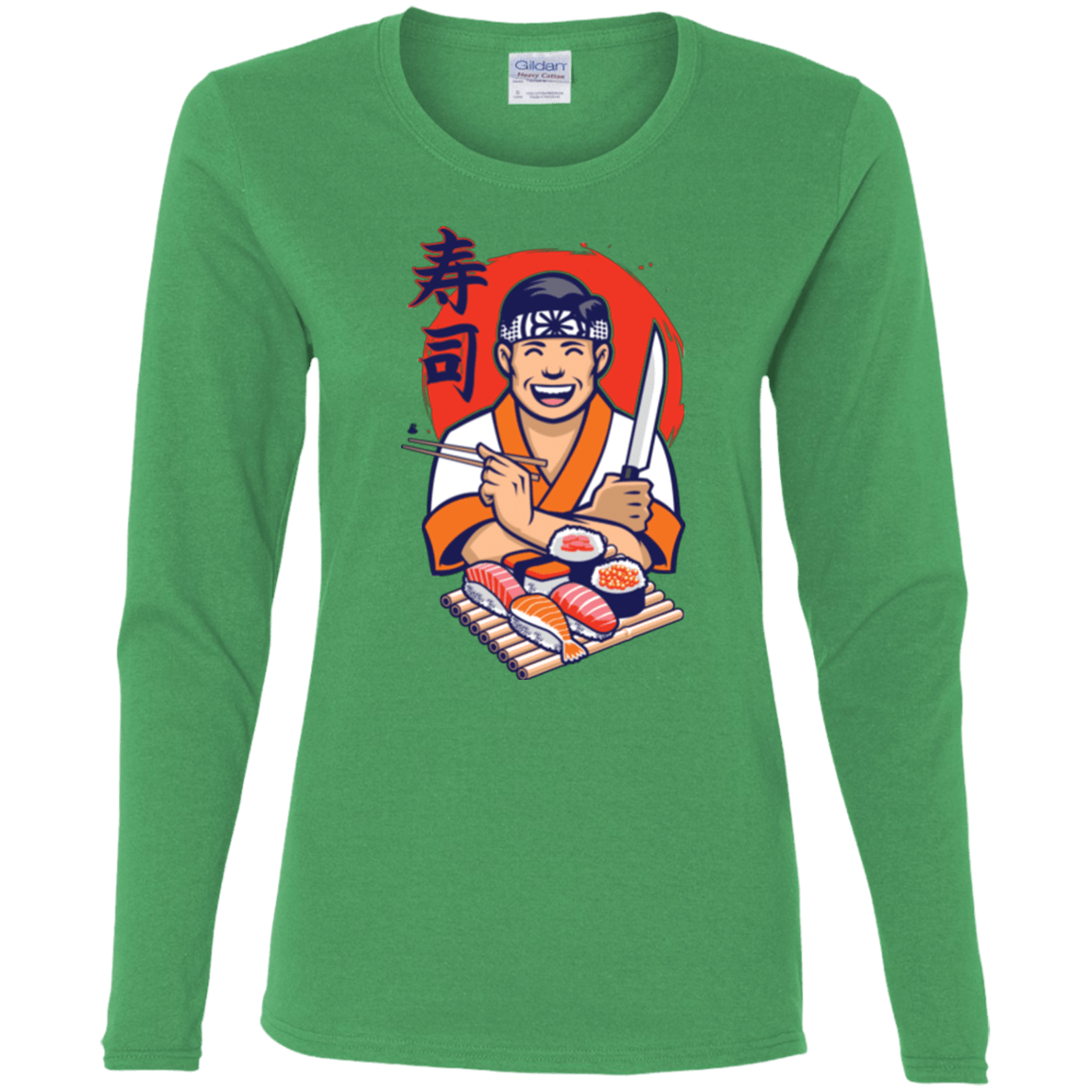 T-Shirts Irish Green / S DANIEL SAN SUSHI Women's Long Sleeve T-Shirt