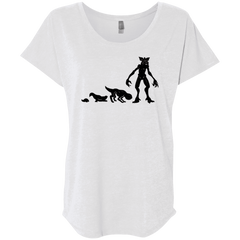 T-Shirts Heather White / X-Small Demogorgon Evolution Triblend Dolman Sleeve