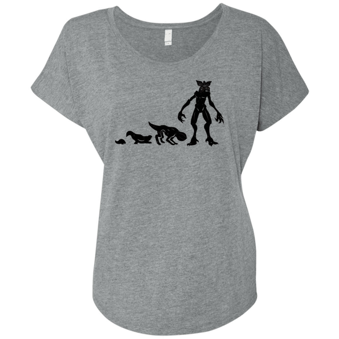 T-Shirts Premium Heather / X-Small Demogorgon Evolution Triblend Dolman Sleeve