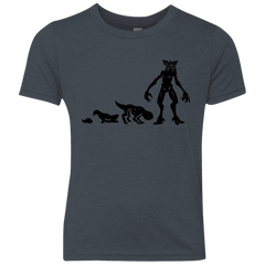 T-Shirts Vintage Navy / YXS Demogorgon Evolution Youth Triblend T-Shirt