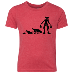 T-Shirts Vintage Red / YXS Demogorgon Evolution Youth Triblend T-Shirt