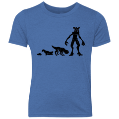 T-Shirts Vintage Royal / YXS Demogorgon Evolution Youth Triblend T-Shirt