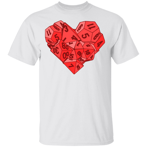 T-Shirts White / S Dice Heart T-Shirt