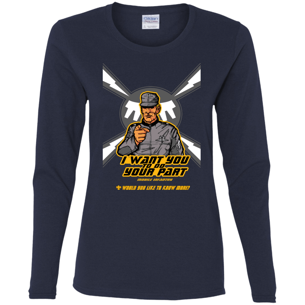 T-Shirts Navy / S Do Your Part Women's Long Sleeve T-Shirt