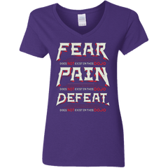 T-Shirts Purple / S DOES NOT EXIST Women's V-Neck T-Shirt