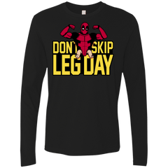 T-Shirts Black / S Dont Skip Leg Day Men's Premium Long Sleeve