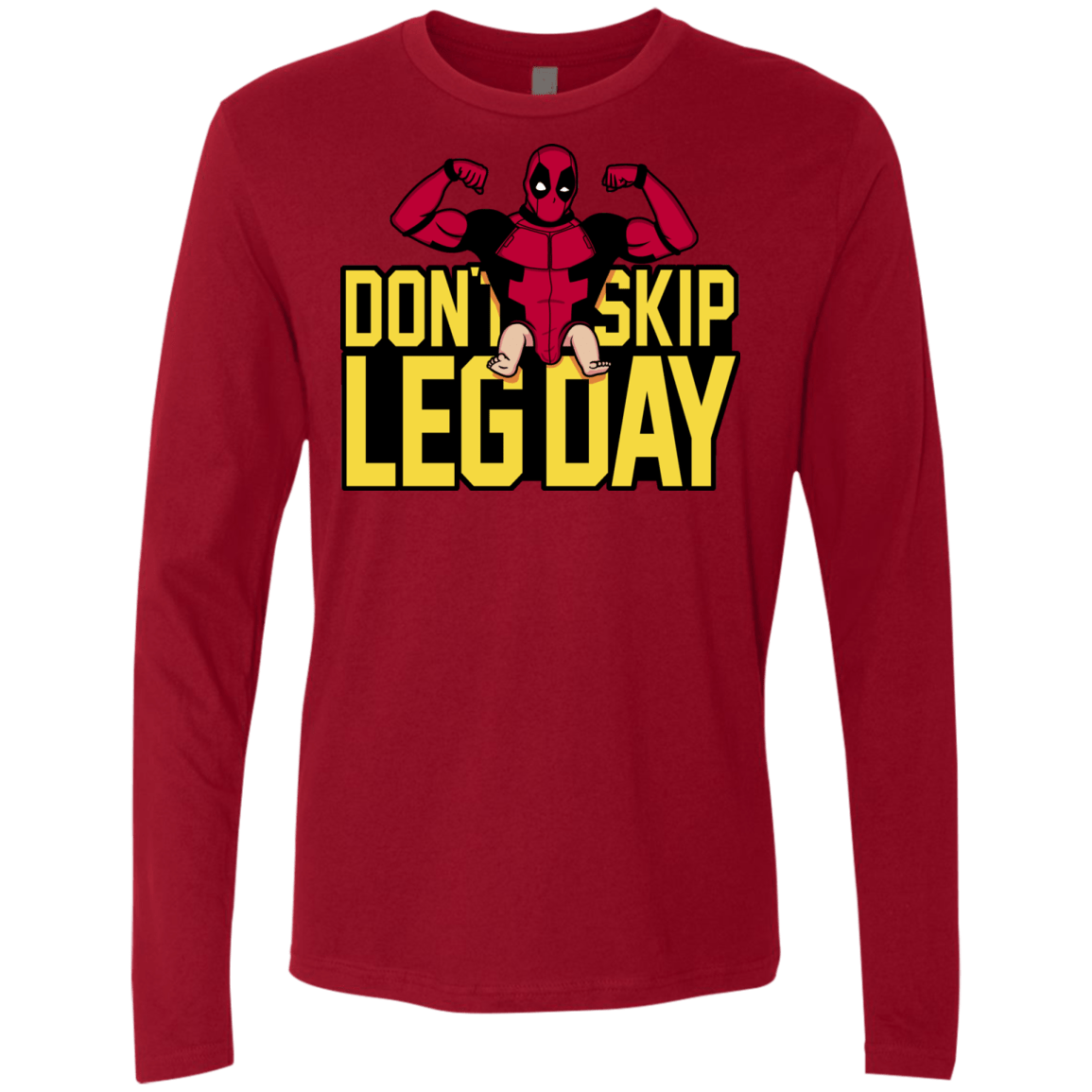 T-Shirts Cardinal / S Dont Skip Leg Day Men's Premium Long Sleeve