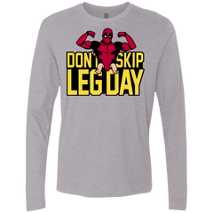 T-Shirts Heather Grey / S Dont Skip Leg Day Men's Premium Long Sleeve