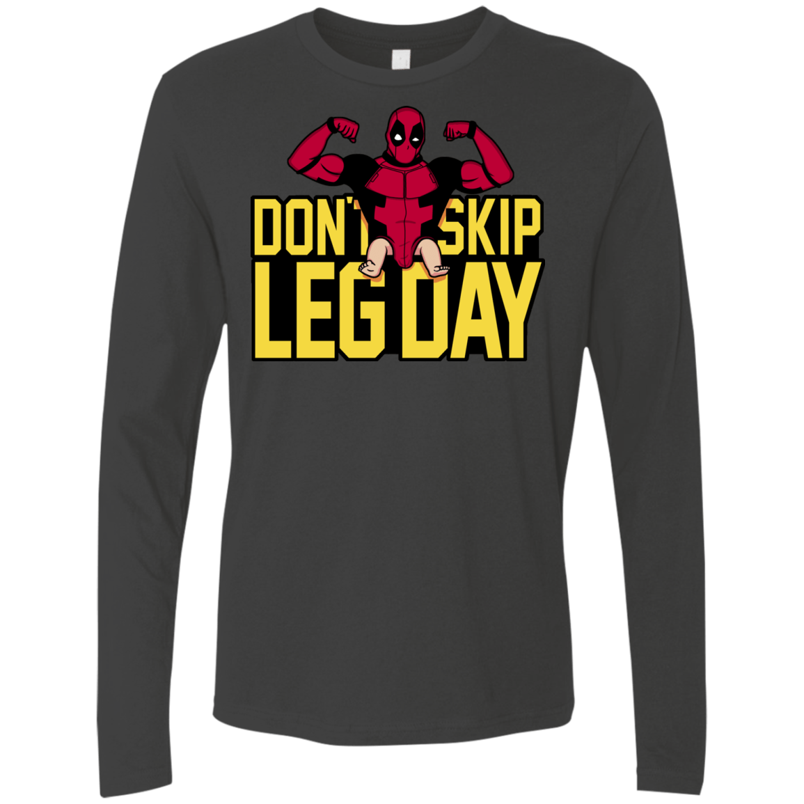 T-Shirts Heavy Metal / S Dont Skip Leg Day Men's Premium Long Sleeve
