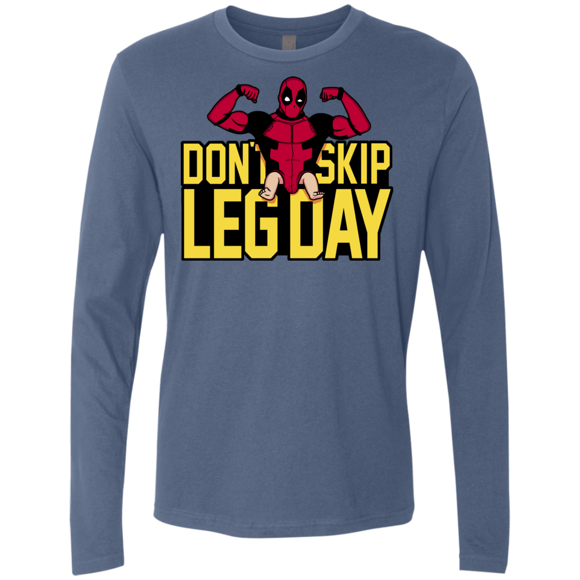 T-Shirts Indigo / S Dont Skip Leg Day Men's Premium Long Sleeve