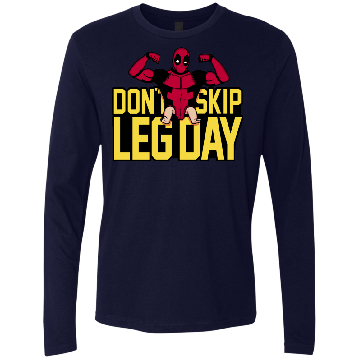 T-Shirts Midnight Navy / S Dont Skip Leg Day Men's Premium Long Sleeve