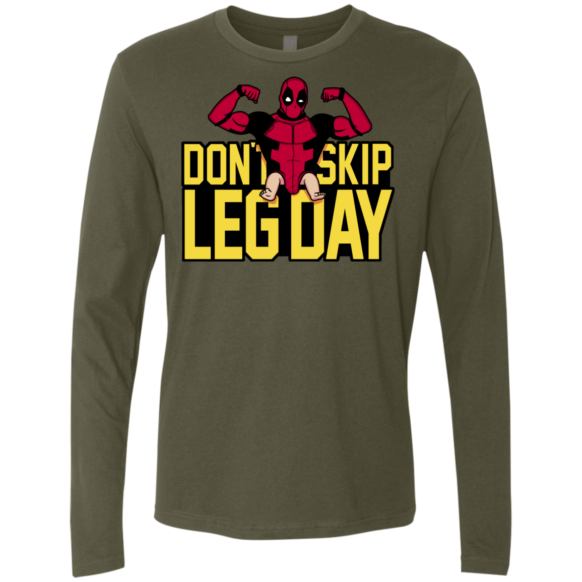 T-Shirts Military Green / S Dont Skip Leg Day Men's Premium Long Sleeve