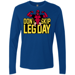 T-Shirts Royal / S Dont Skip Leg Day Men's Premium Long Sleeve