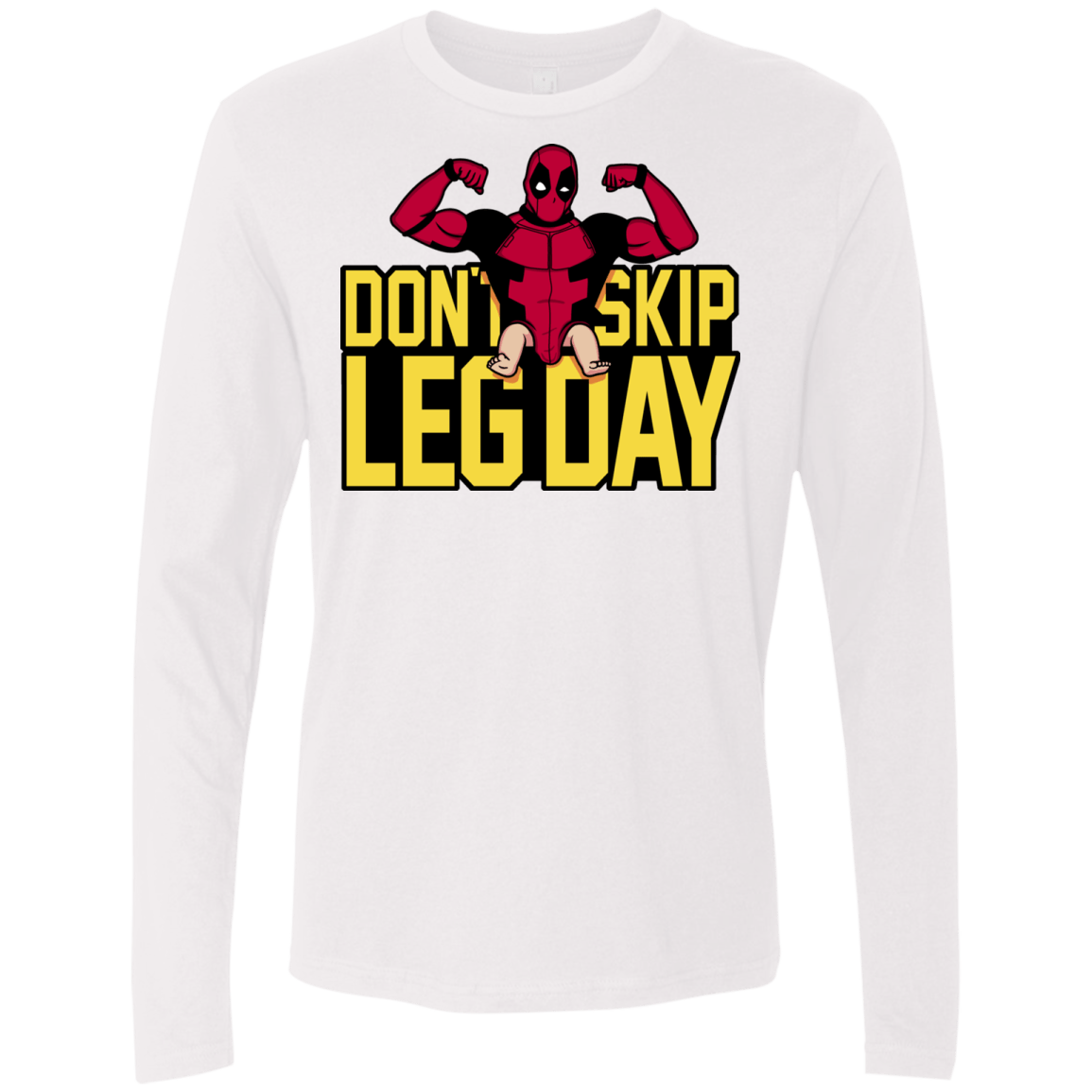 T-Shirts White / S Dont Skip Leg Day Men's Premium Long Sleeve