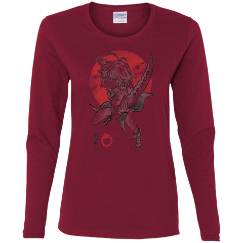 T-Shirts Cardinal / S Dragon Wrath Women's Long Sleeve T-Shirt