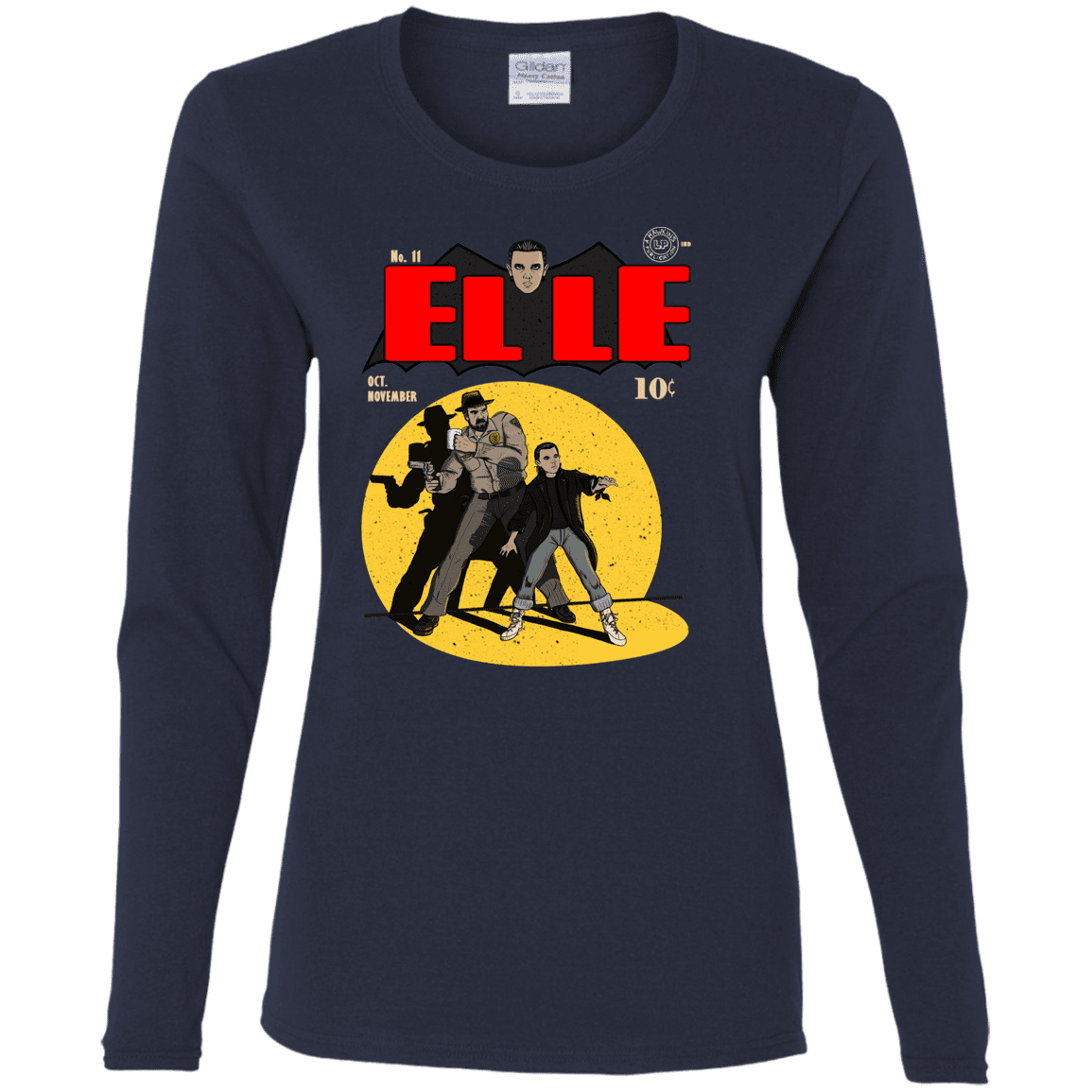 T-Shirts Navy / S Elle N11 Women's Long Sleeve T-Shirt