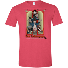 T-Shirts Heather Red / S Enter the Dragon Men's Semi-Fitted Softstyle