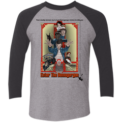 T-Shirts Premium Heather/Vintage Black / X-Small Enter the Dragon Men's Triblend 3/4 Sleeve