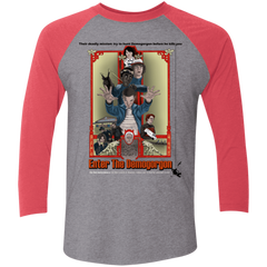 T-Shirts Premium Heather/Vintage Red / X-Small Enter the Dragon Men's Triblend 3/4 Sleeve