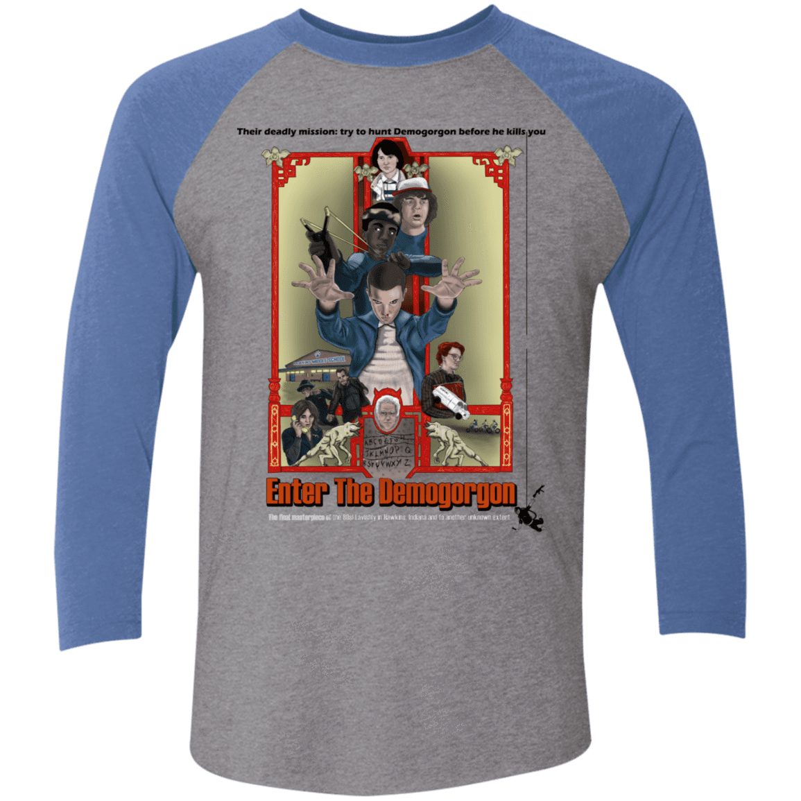 T-Shirts Premium Heather/Vintage Royal / X-Small Enter the Dragon Men's Triblend 3/4 Sleeve