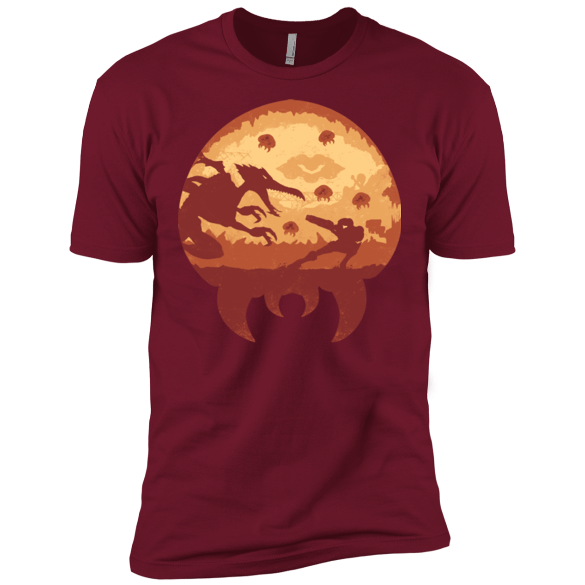 T-Shirts Cardinal / X-Small Escape from Zebes Men's Premium T-Shirt
