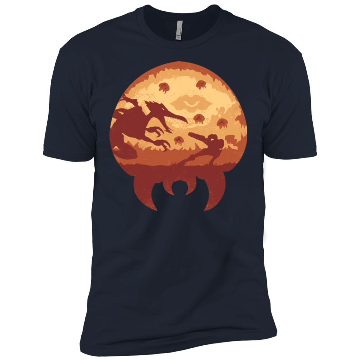 T-Shirts Midnight Navy / X-Small Escape from Zebes Men's Premium T-Shirt