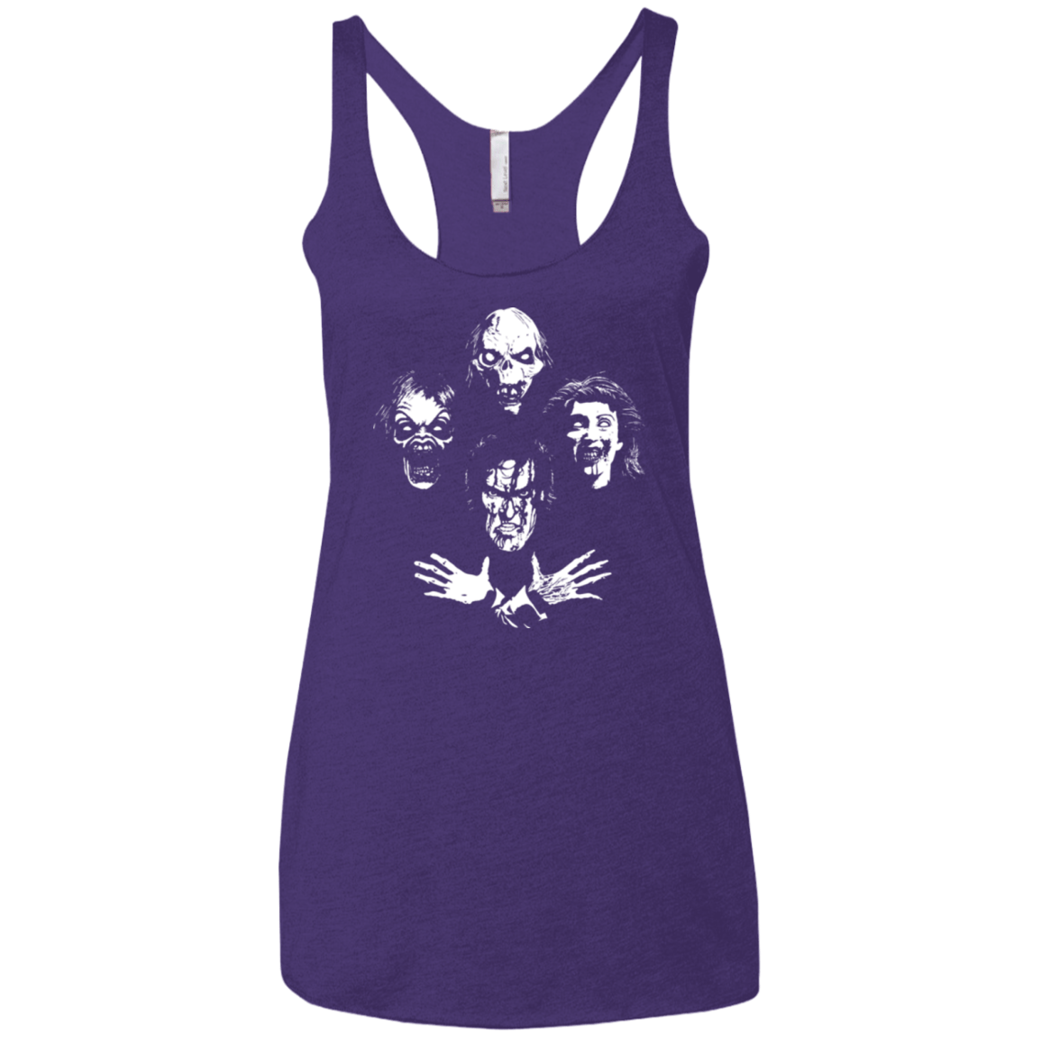T-Shirts Purple / X-Small Evil Rhapsody Women's Triblend Racerback Tank