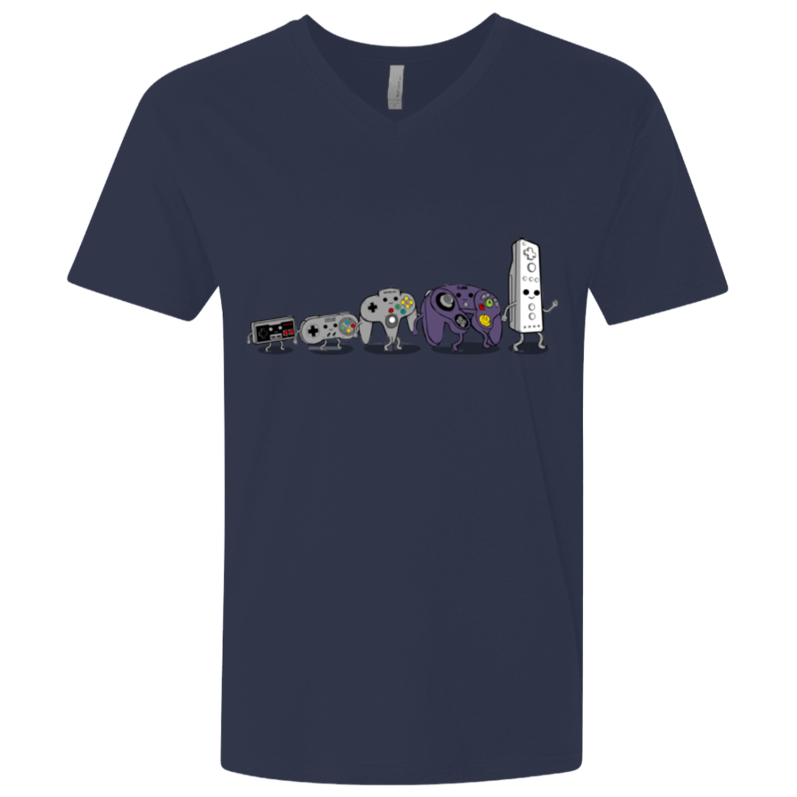 T-Shirts Midnight Navy / X-Small Evolution controller NES Men's Premium V-Neck