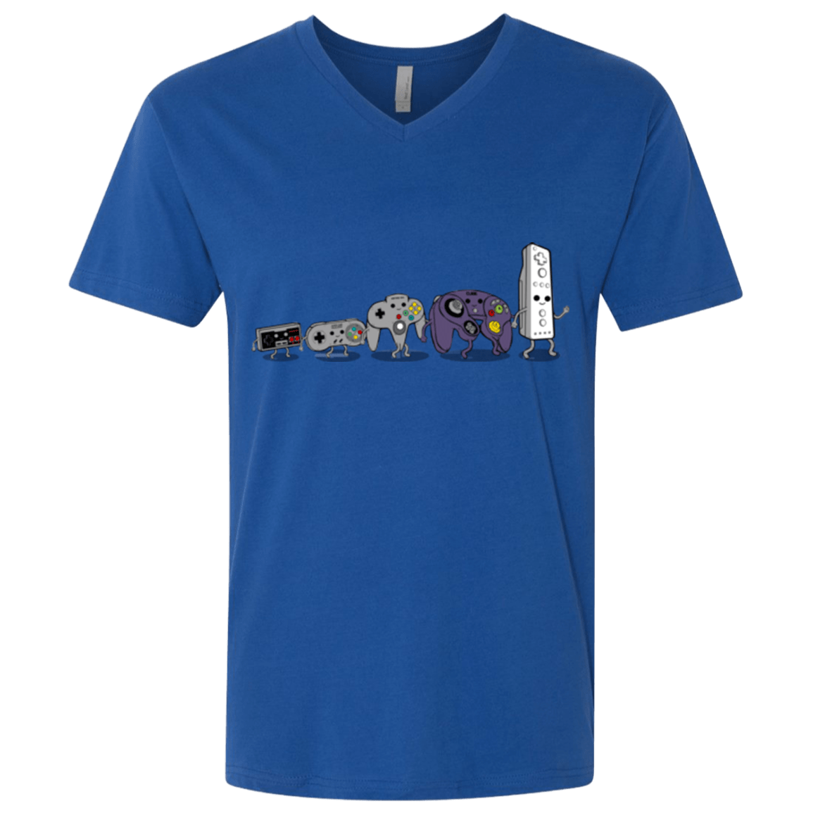 T-Shirts Royal / X-Small Evolution controller NES Men's Premium V-Neck