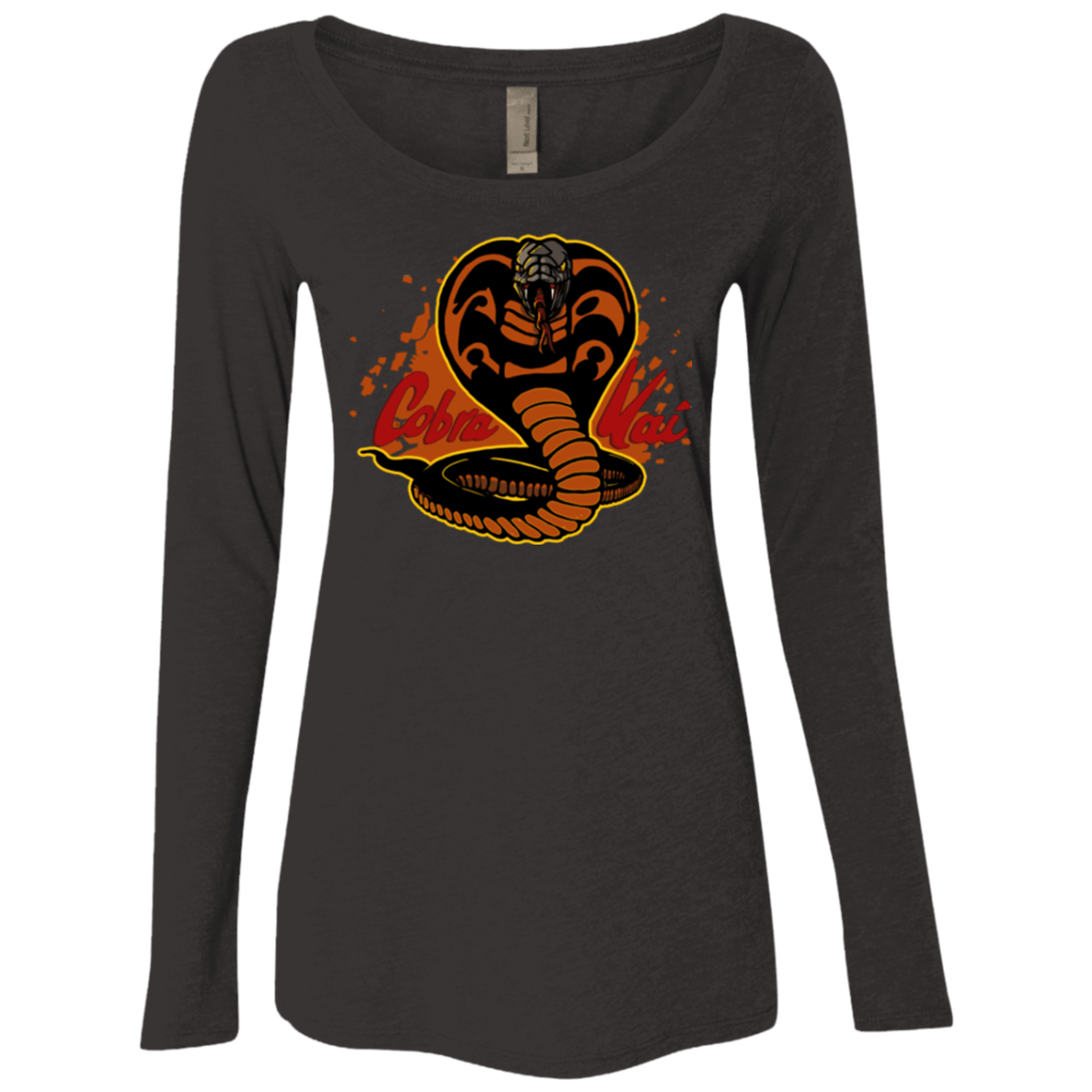 T-Shirts Vintage Black / S Familiar Reptile Women's Triblend Long Sleeve Shirt