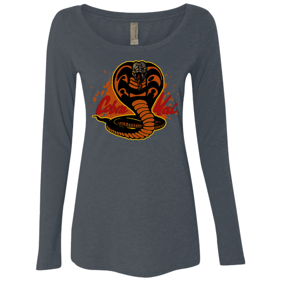 T-Shirts Vintage Navy / S Familiar Reptile Women's Triblend Long Sleeve Shirt