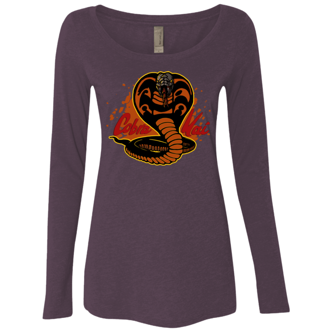 T-Shirts Vintage Purple / S Familiar Reptile Women's Triblend Long Sleeve Shirt