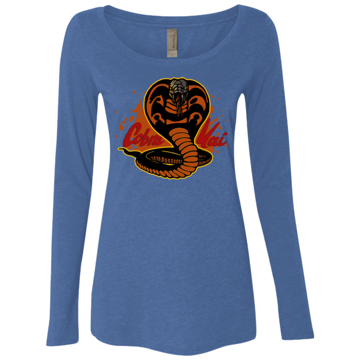 T-Shirts Vintage Royal / S Familiar Reptile Women's Triblend Long Sleeve Shirt
