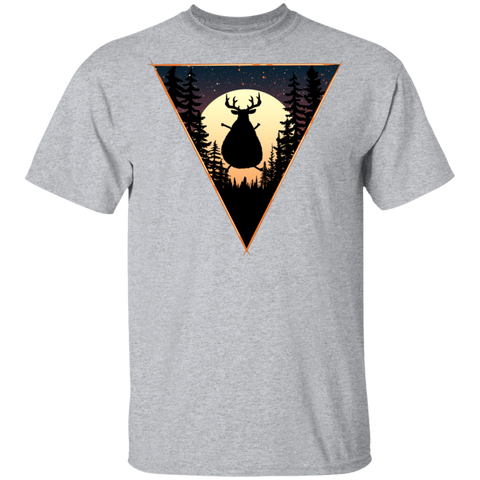 Fat Reindeer Triangle T-Shirt
