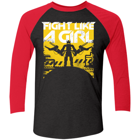 Fight Like A Girl Men's Triblend 3/4 Sleeve