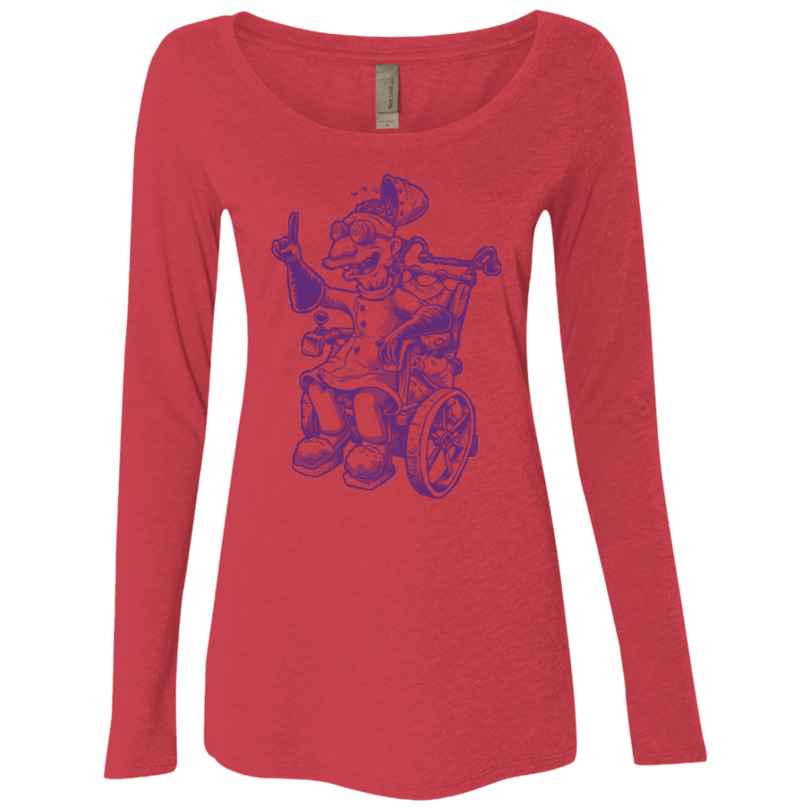 T-Shirts Vintage Red / Small Finklesworth Women's Triblend Long Sleeve Shirt