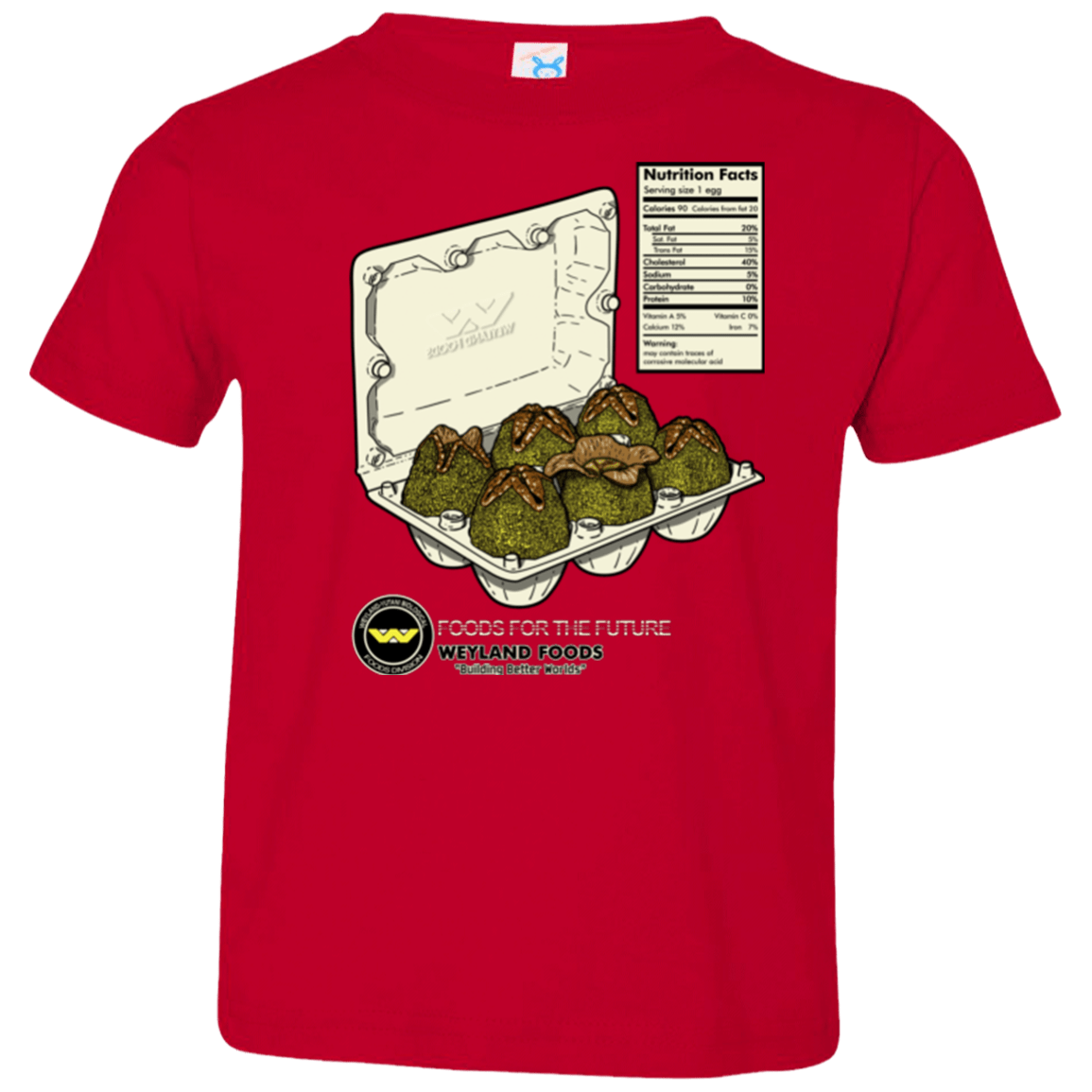 T-Shirts Red / 2T Food For The Future Toddler Premium T-Shirt