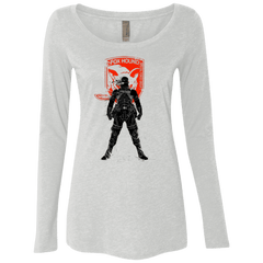 T-Shirts Heather White / Small Fox Hound (1) Women's Triblend Long Sleeve Shirt
