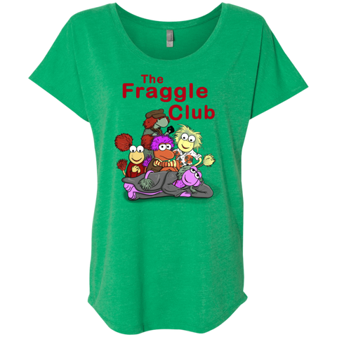 T-Shirts Envy / X-Small Fraggle Club Triblend Dolman Sleeve