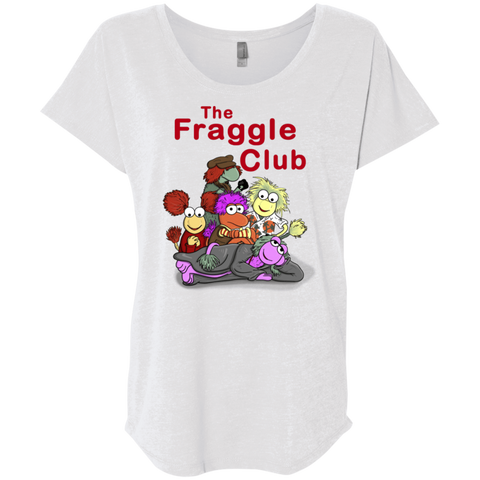 T-Shirts Heather White / X-Small Fraggle Club Triblend Dolman Sleeve