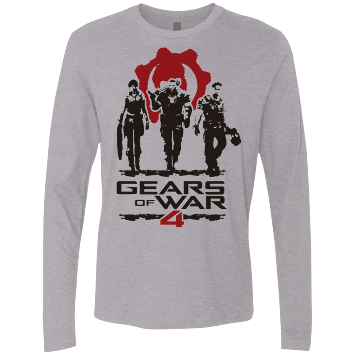 Gears Of War 4 White Men's Premium Long Sleeve