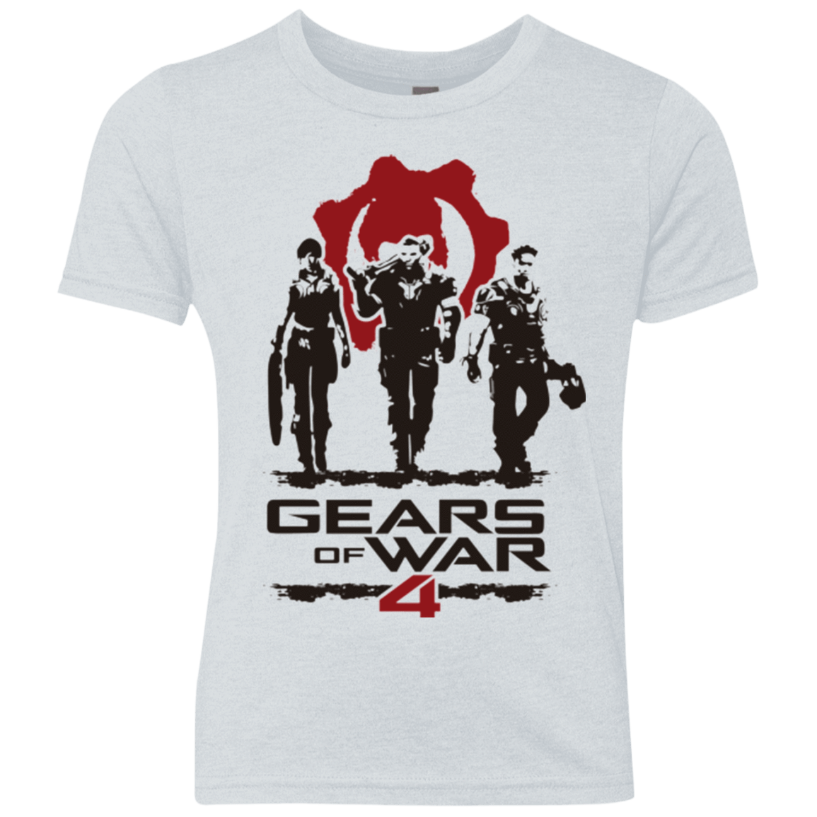 Gears Of War 4 White Youth Triblend T-Shirt