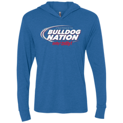 Georgia Dilly Dilly Triblend Long Sleeve Hoodie Tee