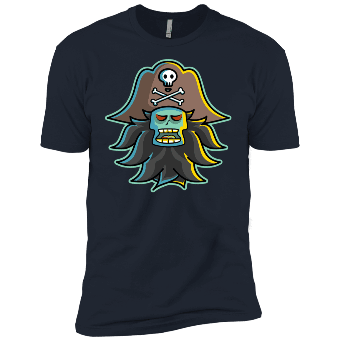T-Shirts Midnight Navy / YXS Ghost Pirate LeChuck Boys Premium T-Shirt
