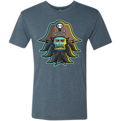 T-Shirts Indigo / S Ghost Pirate LeChuck Men's Triblend T-Shirt