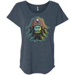 T-Shirts Indigo / X-Small Ghost Pirate LeChuck Triblend Dolman Sleeve